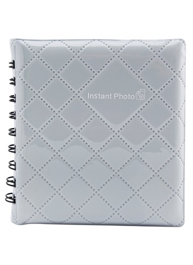 Fujifilm Fujifilm 8 X 6 Cm 64 Fotoğraf Bölmeli Geometrik Desenli Instax Mini Albüm Gri